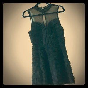 Free People Black Sleeveless Mini Cocktail Dress